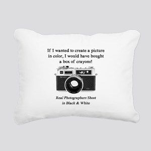 Black and White Photographer Rectangular Canvas Pi