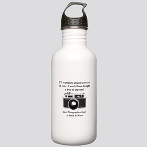 Black and White Photographer Water Bottle