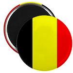 Belgian Flag Square Magnets
