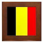 Belgian Flag Square Framed Tile