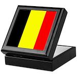 Belgian Flag Square Keepsake Box