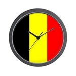 Belgian Flag Square Wall Clock