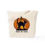 Halloween Black Cat Pumpkin - Tote Bag