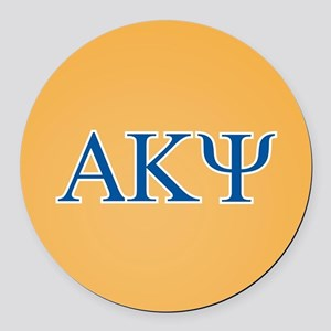 Alpha Kappa Psi Letters Round Car Magnet
