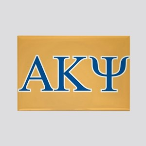 Alpha Kappa Psi Letters Rectangle Magnet