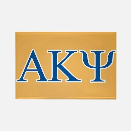 Alpha Kappa Psi Letters Rectangle Magnet