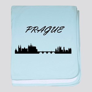 Prague baby blanket