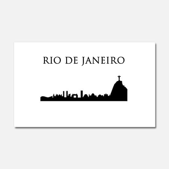 Rio De Janeiro Car Magnet 20 x 12