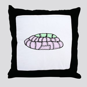 UFO over Cowtown Throw Pillow