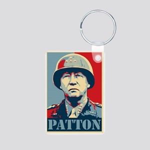 General Patton Aluminum Photo Keychain