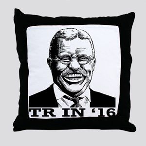 Theodore Roosevelt for President Throw Pillow
