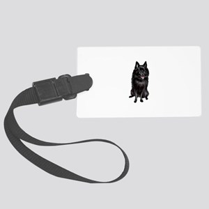 Schipperke (A) Large Luggage Tag