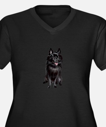 Schipperke ( Women's Plus Size V-Neck Dark T-Shirt