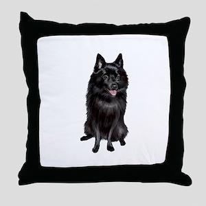 Schipperke (A) Throw Pillow