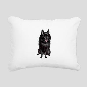 Schipperke (A) Rectangular Canvas Pillow