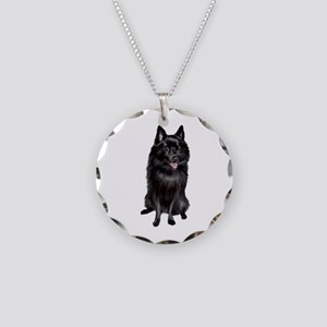 Schipperke (A) Necklace Circle Charm