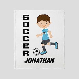Personalized Soccer Sports Boy Throw Blanket