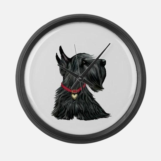 Scottish Terrier 1 Large Wall Clock