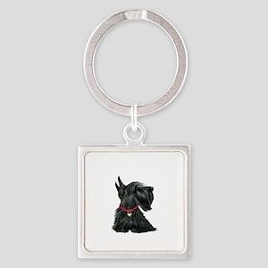Scottish Terrier 1 Square Keychain