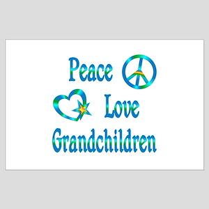 Peace Love Grandchildren Large Poster