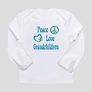 Peace Love Grandchildren Long Sleeve Infant T-Shir