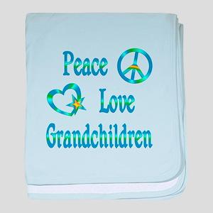 Peace Love Grandchildren baby blanket