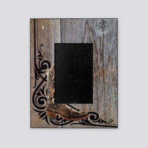 cowboy boots barnwood Picture Frame