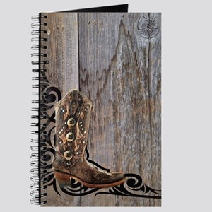 cowboy boots barnwood Journal