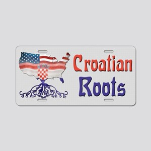 American Croatian Roots Aluminum License Plate