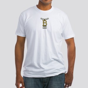 B Necklace Fitted T-Shirt