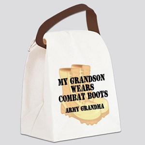 Army Grandma Grandson Desert Combat Boots Canvas L