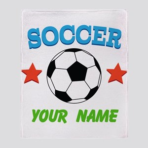 Personalized Soccer Sports Boy Throw Blanket