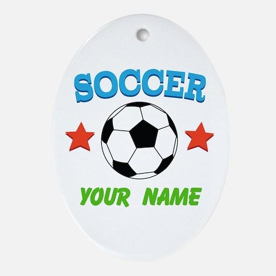 Soccer Sports Boy Ornament (Oval)