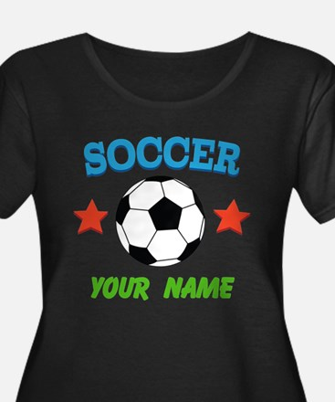Personalized Soccer Ball Name Plus Size T-Shirt