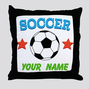 Personalized Soccer Ball Name Throw Pillow