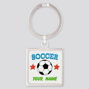 Personalized Soccer Ball Name Keychains