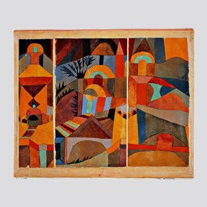 Klee - Temple Gardens Throw Blanket