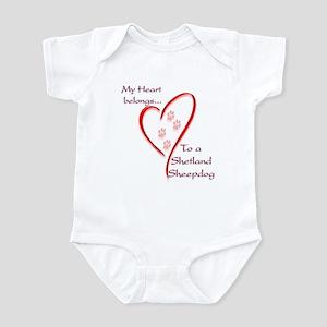 Shetland Sheepdog Heart Belongs Infant Bodysuit