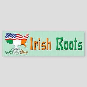 American Irish Roots Bumper Sticker