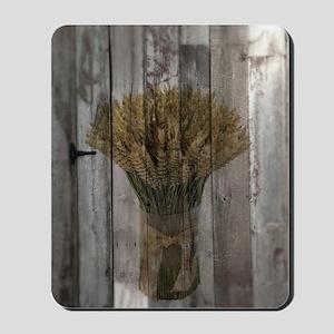 barnwood wheat bouquet Mousepad