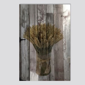 barnwood wheat bouquet Postcards (Package of 8)