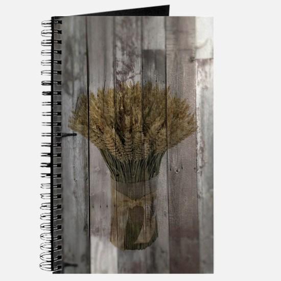 barnwood wheat bouquet Journal