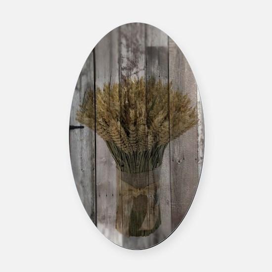 barnwood wheat bouquet Oval Car Magnet