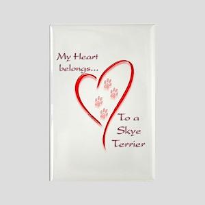 Skye Terrier Heart Belongs Rectangle Magnet