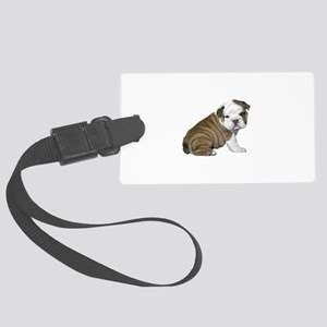 English Bulldog Puppy1 Large Luggage Tag