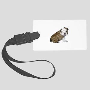 English Bulldog Puppy1 Large Luggage Tag