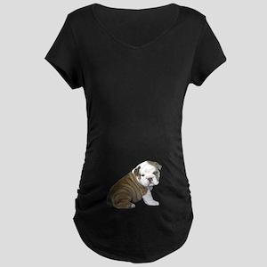 English Bulldog Puppy1 Maternity Dark T-Shirt