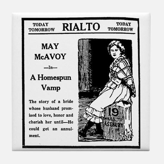 May McAvoy Tile Coaster