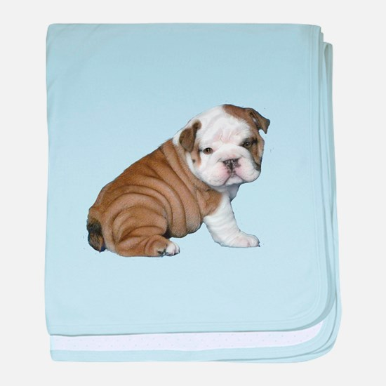 English Bulldog Puppy1 baby blanket