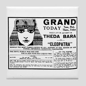 Theda Bara Cleopatra Tile Coaster